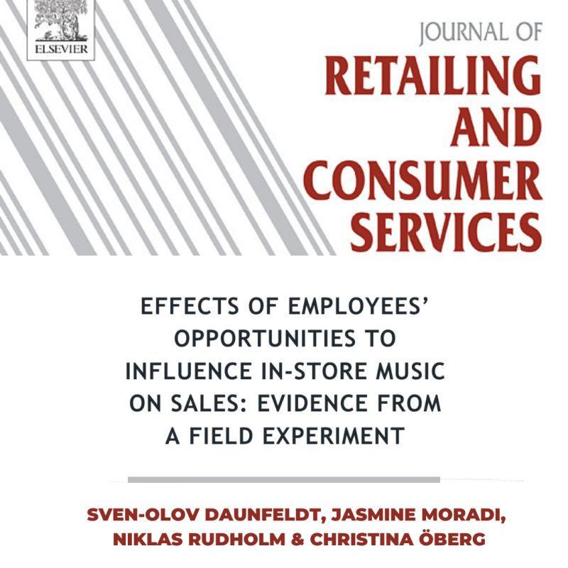 EFFECTS OF EMPLOYEES OPPORTUNITIES TO INFLUENCE IN-STORE MUSIC ON SALES EVIDENCE FROM A FIELD EXPERIMENT